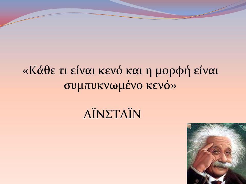 «Κάθε τι είναι κενό και η μορφή είναι συμπυκνωμένο κενό»