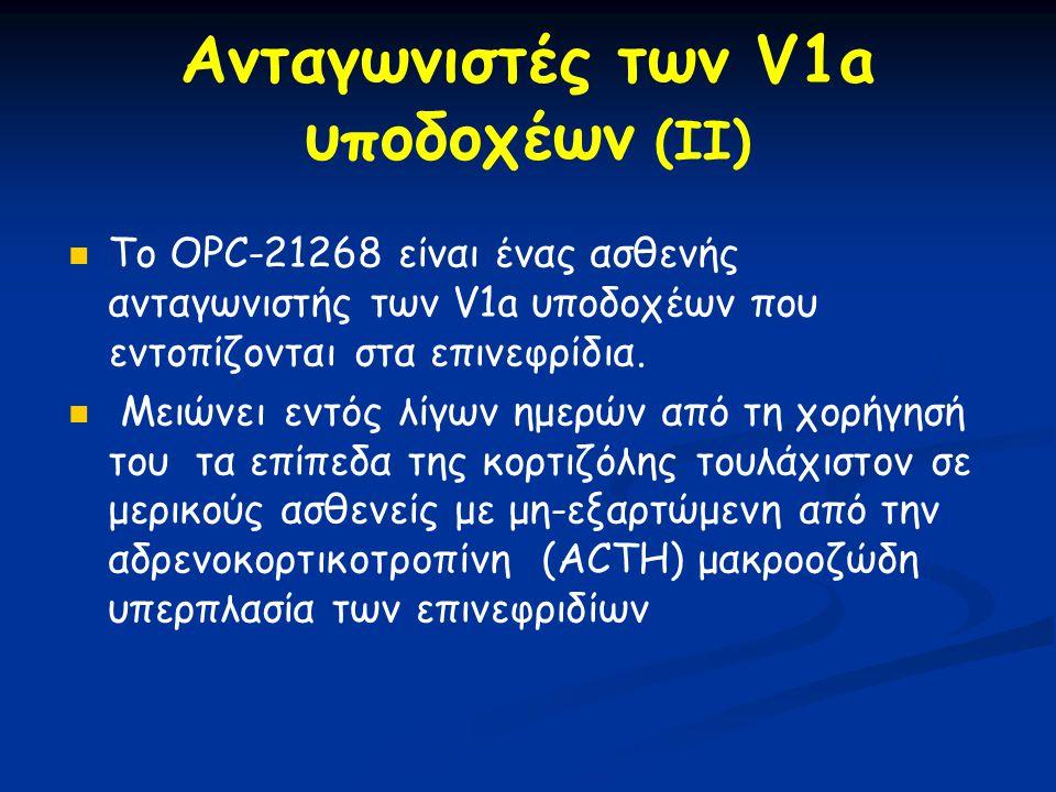 Ανταγωνιστές των V1a υποδοχέων (II)