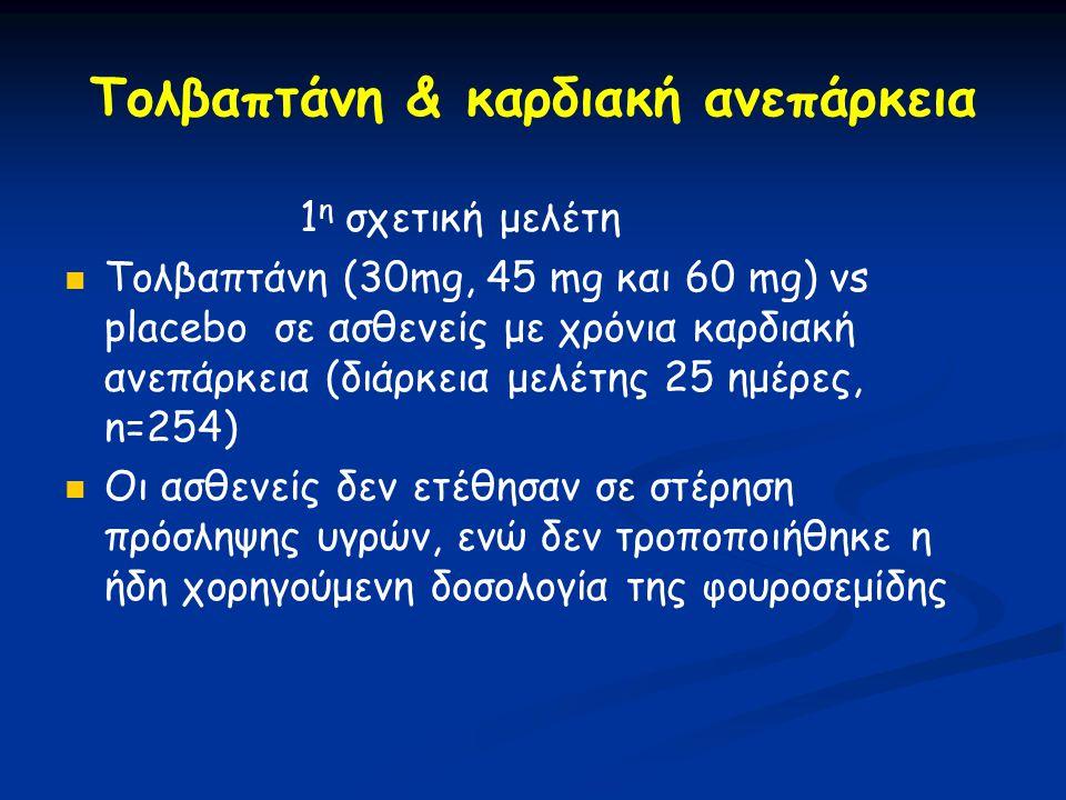 Τολβαπτάνη & καρδιακή ανεπάρκεια