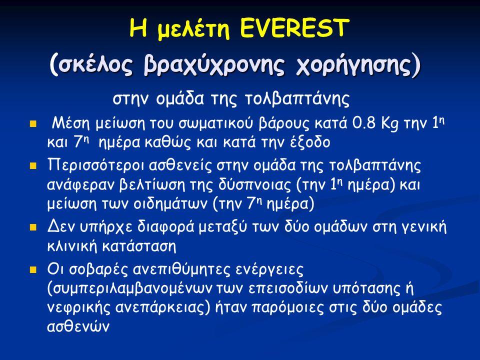 Η μελέτη EVEREST (σκέλος βραχύχρονης χορήγησης)