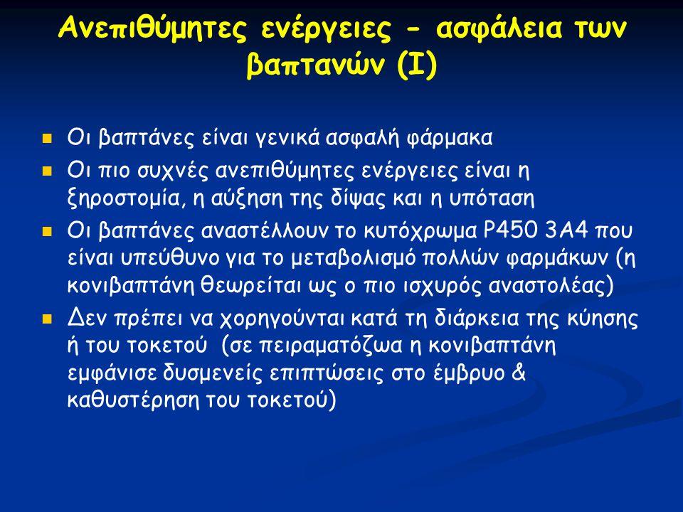 Ανεπιθύμητες ενέργειες - ασφάλεια των βαπτανών (Ι)