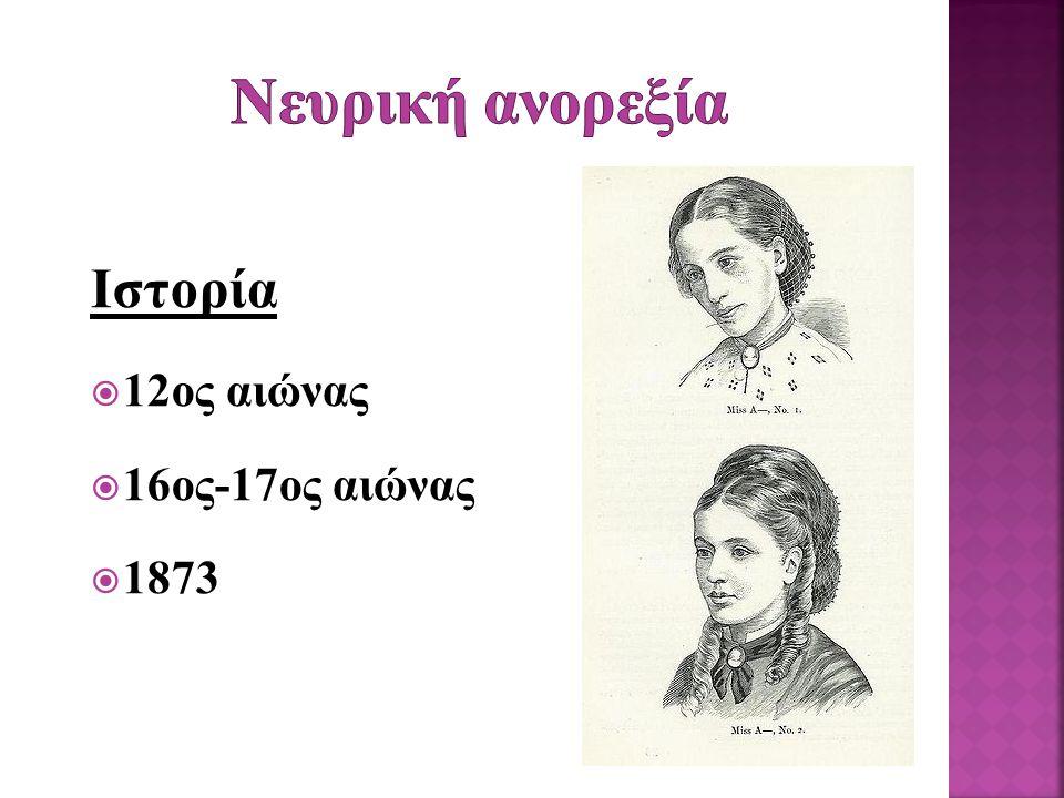 Nευρική ανορεξία Ιστορία 12ος αιώνας 16ος-17ος αιώνας 1873