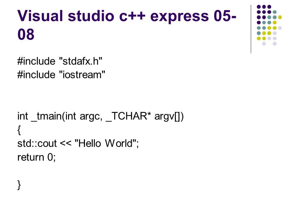 Visual studio c++ express 05-08