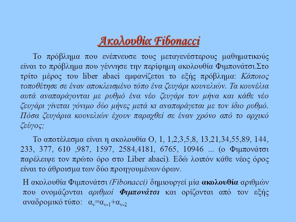 Ακολουθία Fibonacci