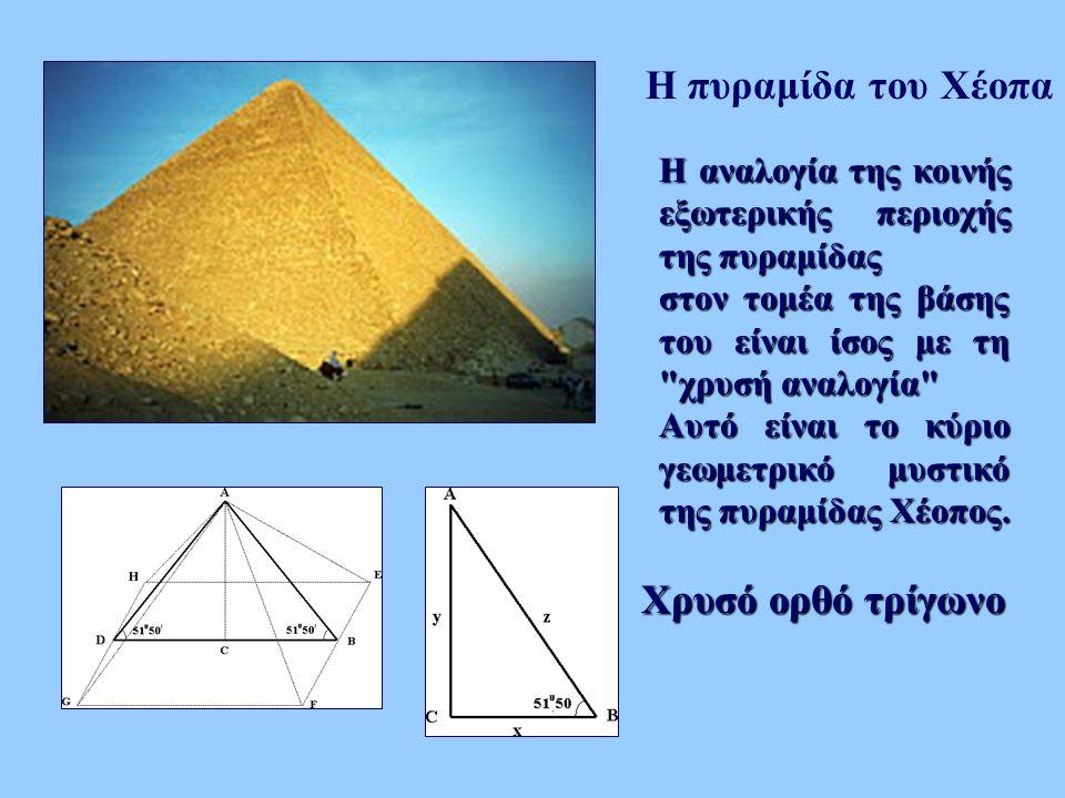 Η πυραμίδα του Χέοπα Χρυσό ορθό τρίγωνο