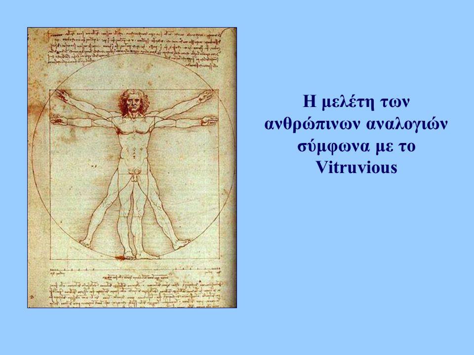 Η μελέτη των ανθρώπινων αναλογιών σύμφωνα με το Vitruvious