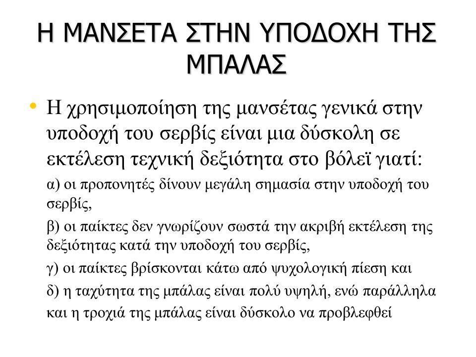 Η ΜΑΝΣΕΤΑ ΣΤΗΝ ΥΠΟΔΟΧΗ ΤΗΣ ΜΠΑΛΑΣ