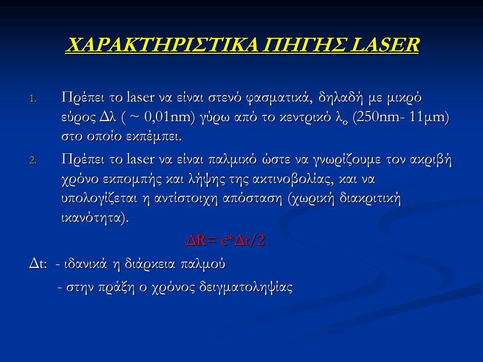 ΧΑΡΑΚΤΗΡΙΣΤΙΚΑ ΠΗΓΗΣ LASER