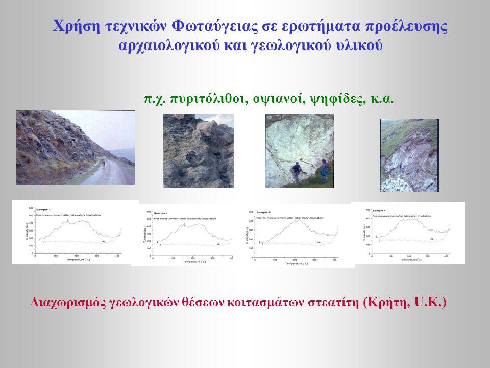 αρχαιολογικού και γεωλογικού υλικού