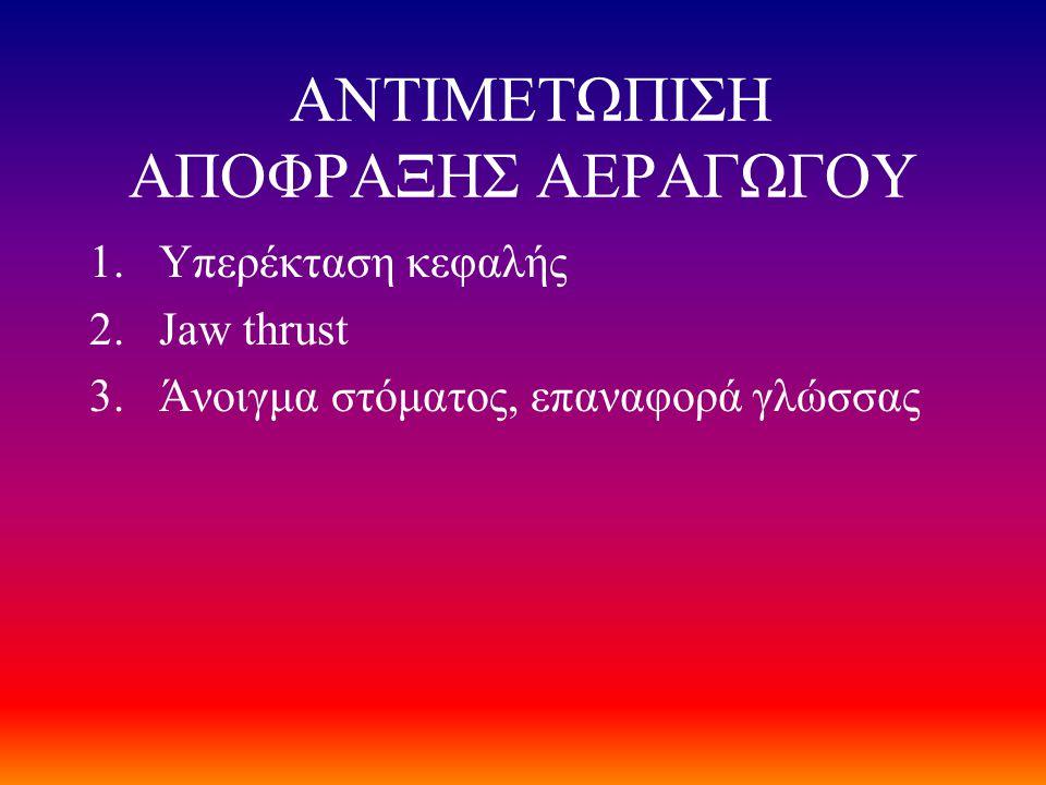 ΑΝΤΙΜΕΤΩΠΙΣΗ ΑΠΟΦΡΑΞΗΣ ΑΕΡΑΓΩΓΟΥ
