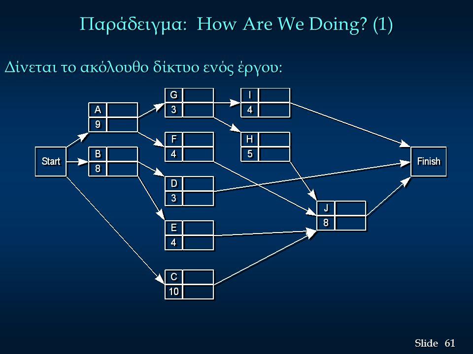 Παράδειγμα: How Are We Doing (1)