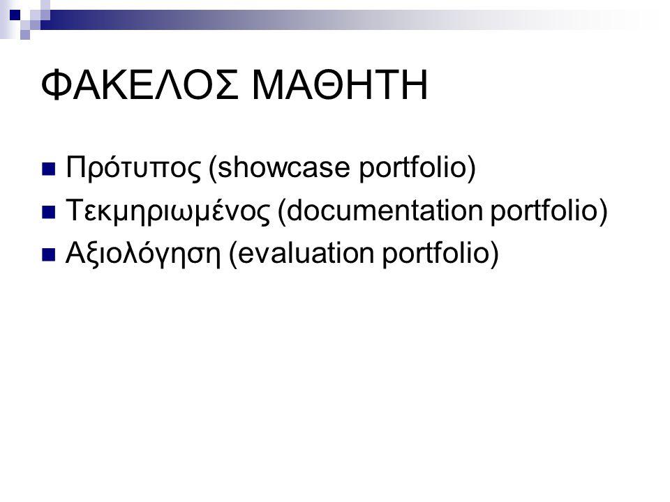 ΦΑΚΕΛΟΣ ΜΑΘΗΤΗ Πρότυπος (showcase portfolio)
