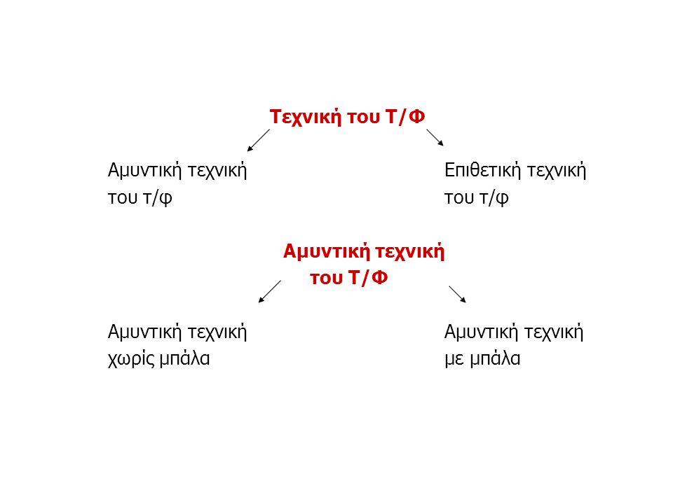 Τεχνική του Τ/Φ Αμυντική τεχνική Επιθετική τεχνική. του τ/φ του τ/φ. Αμυντική τεχνική. του Τ/Φ.