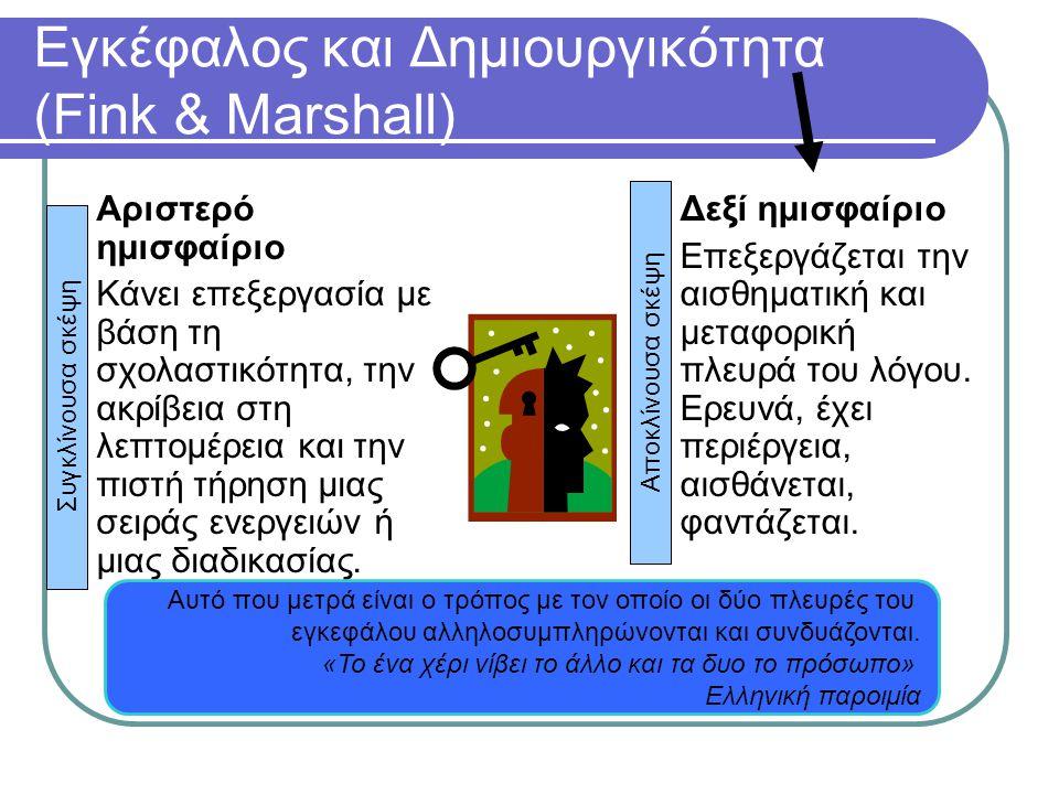 Εγκέφαλος και Δημιουργικότητα (Fink & Marshall)