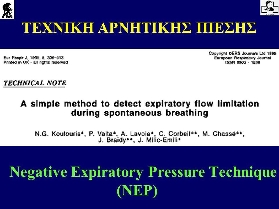 Negative Expiratory Pressure Τechnique