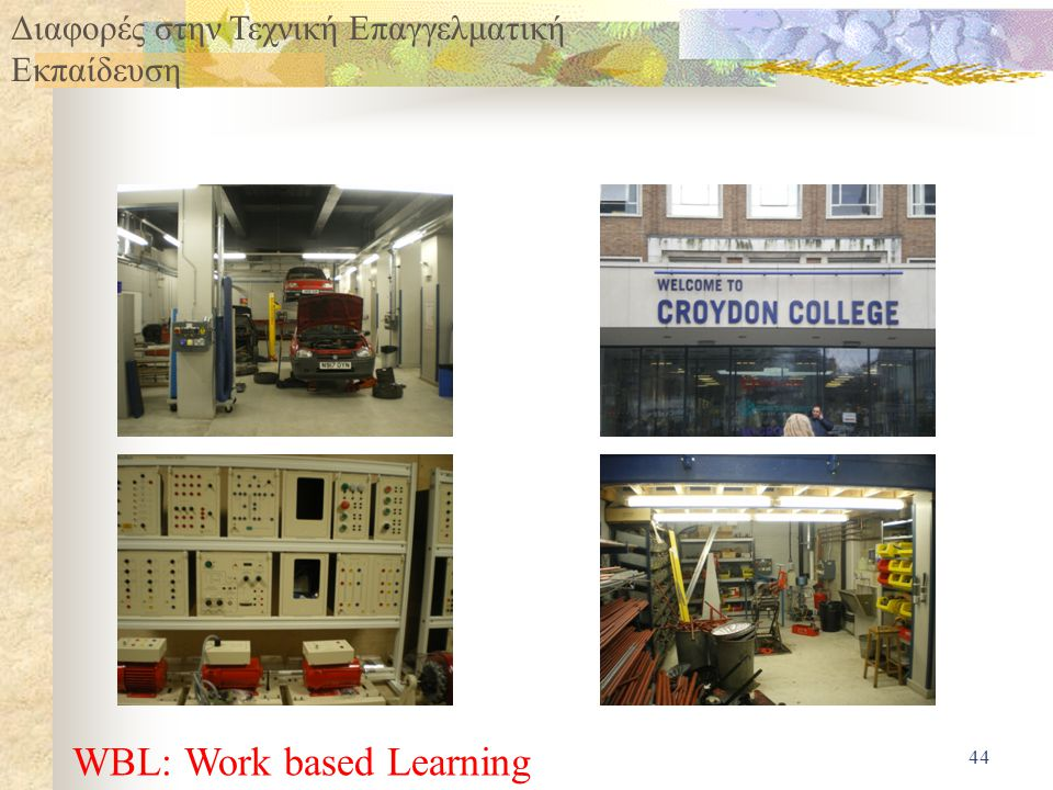 WBL: Work based Learning