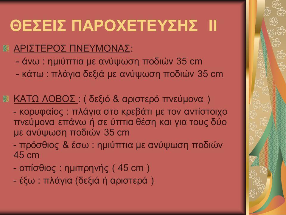 ΘΕΣΕΙΣ ΠΑΡΟΧΕΤΕΥΣΗΣ ΙΙ