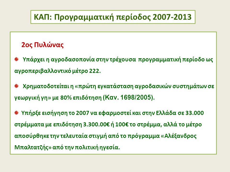 ΚΑΠ: Προγραμματική περίοδος 2007-2013