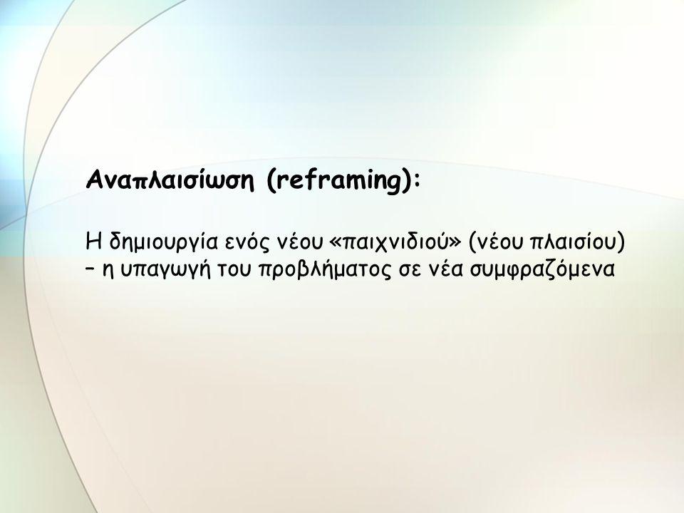 Αναπλαισίωση (reframing):