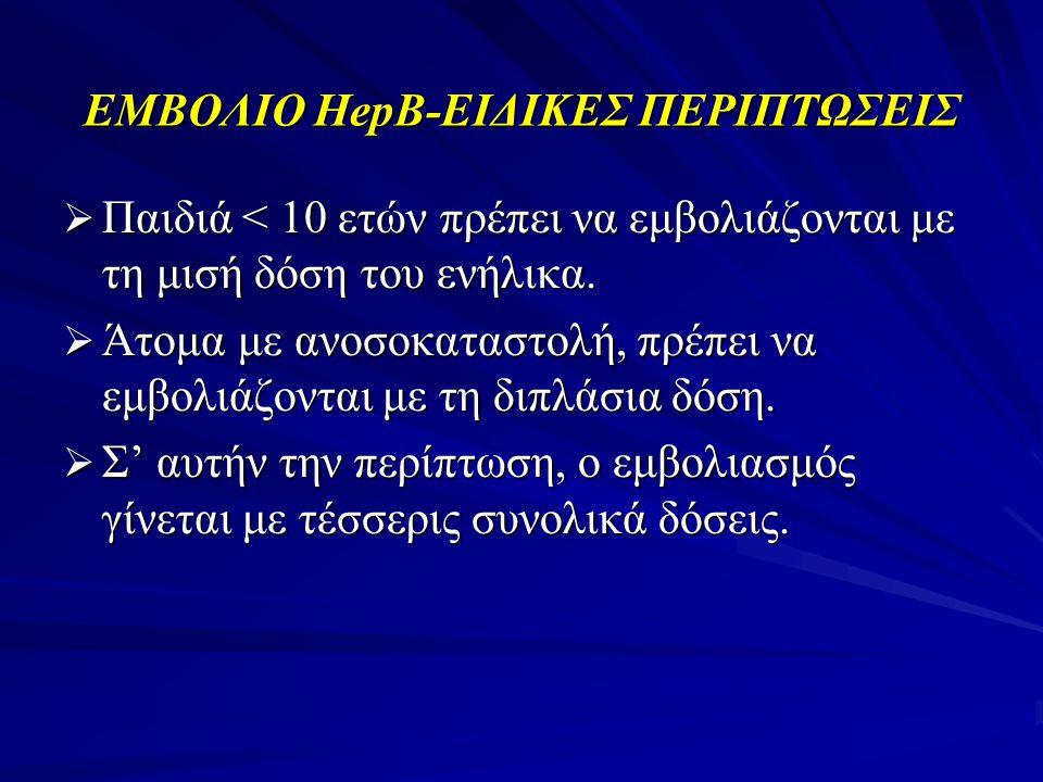 ΕΜΒΟΛΙΟ ΗepΒ-ΕΙΔΙΚΕΣ ΠΕΡΙΠΤΩΣΕΙΣ