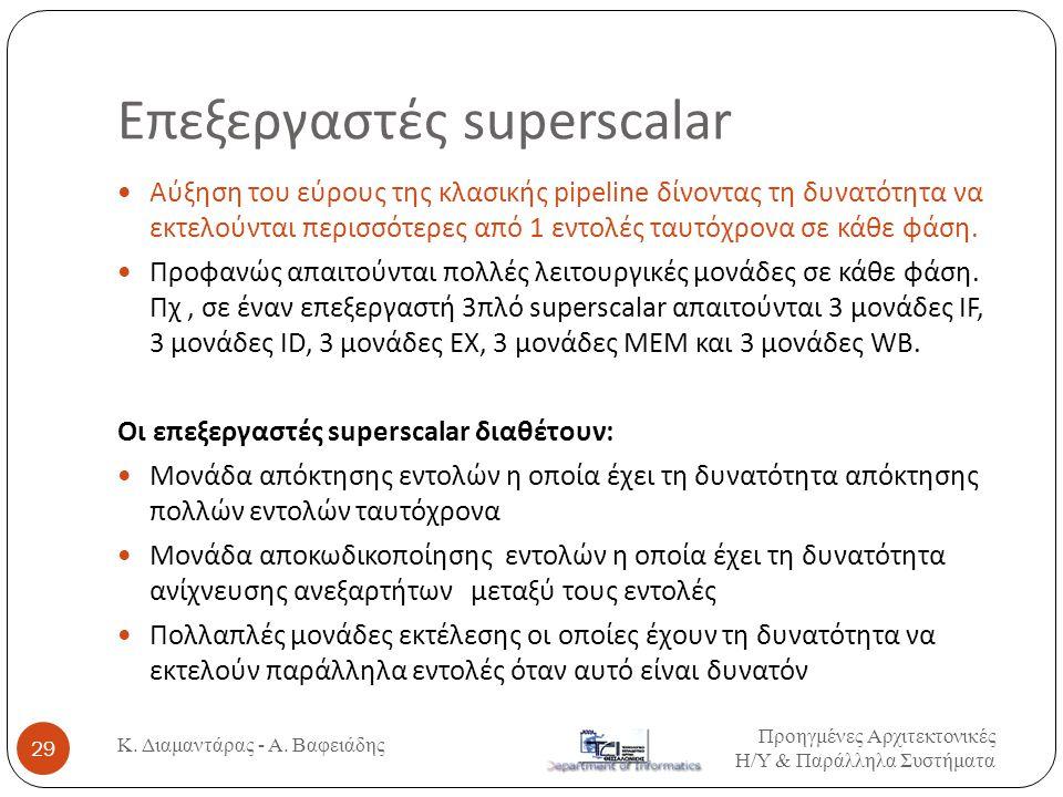 Επεξεργαστές superscalar