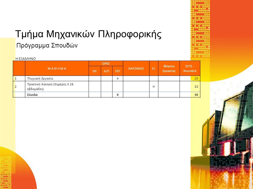 Τμήμα Μηχανικών Πληροφορικής