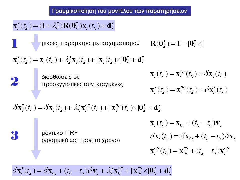 Γραμμικοποίηση του μοντέλου των παρατηρήσεων