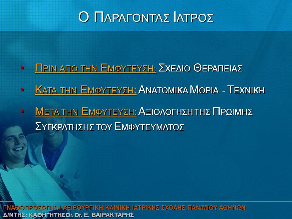 Ο ΠΑΡΑΓΟΝΤΑΣ ΙΑΤΡΟΣ ΠΡΙΝ ΑΠΟ ΤΗΝ ΕΜΦΥΤΕΥΣΗ: ΣΧΕΔΙΟ ΘΕΡΑΠΕΙΑΣ