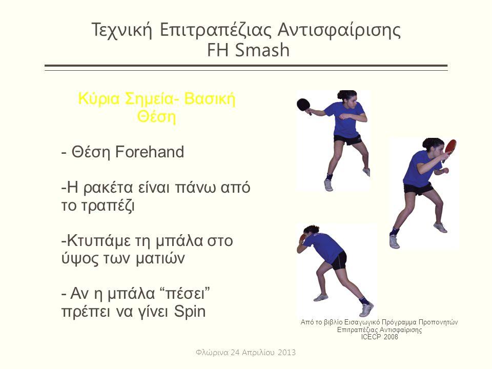 Τεχνική Επιτραπέζιας Αντισφαίρισης FH Smash