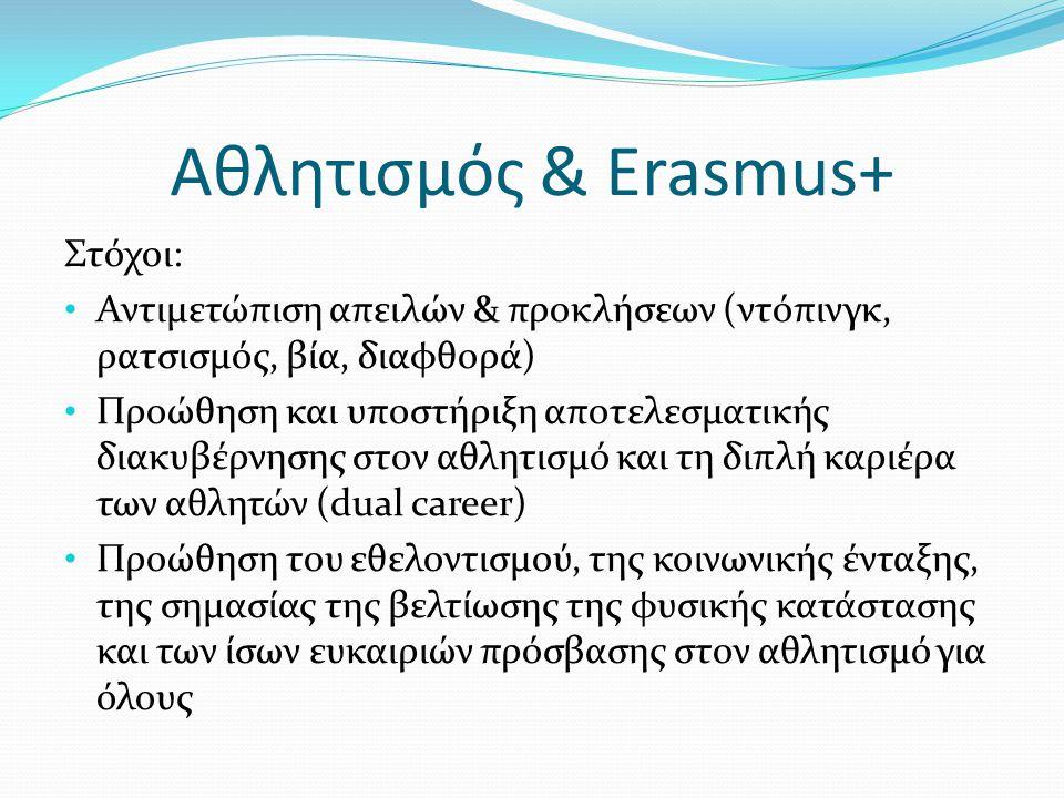 Αθλητισμός & Erasmus+ Στόχοι: