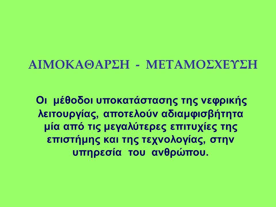 ΑΙΜΟΚΑΘΑΡΣΗ - ΜΕΤΑΜΟΣΧΕΥΣΗ