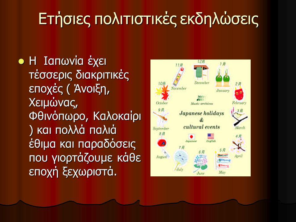 Ετήσιες πολιτιστικές εκδηλώσεις