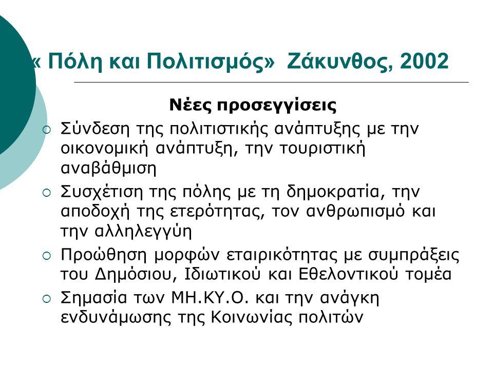 « Πόλη και Πολιτισμός» Ζάκυνθος, 2002