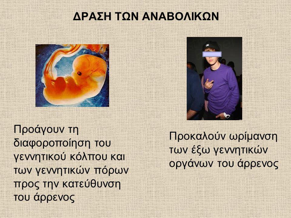 Προκαλούν ωρίμανση των έξω γεννητικών οργάνων του άρρενος