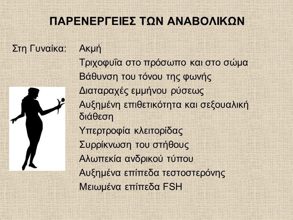 ΠΑΡΕΝΕΡΓΕΙΕΣ ΤΩΝ ΑΝΑΒΟΛΙΚΩΝ