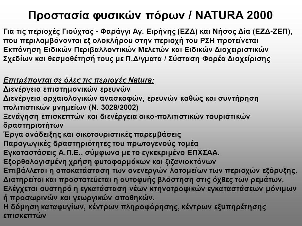 Προστασία φυσικών πόρων / NATURA 2000