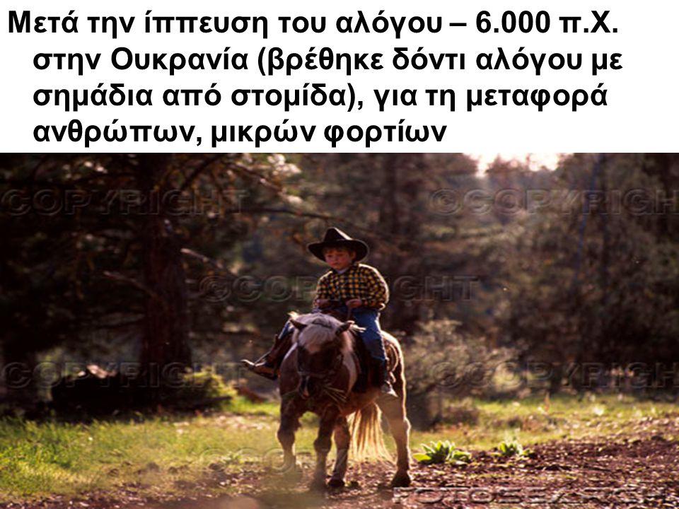Μετά την ίππευση του αλόγου – 6. 000 π. Χ