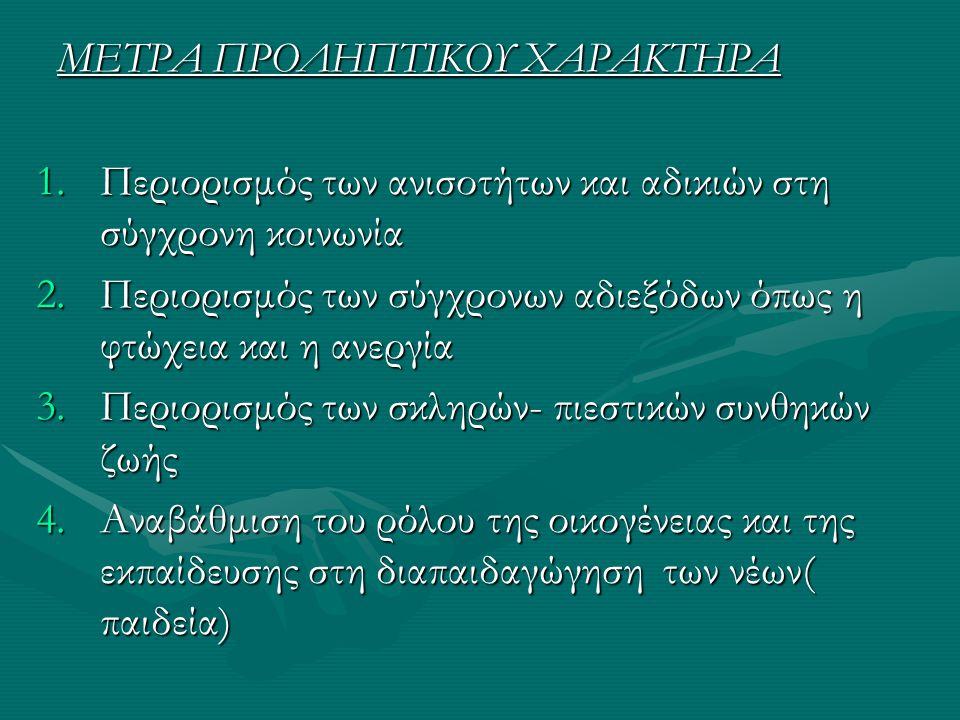 ΜΕΤΡΑ ΠΡΟΛΗΠΤΙΚΟΥ ΧΑΡΑΚΤΗΡΑ