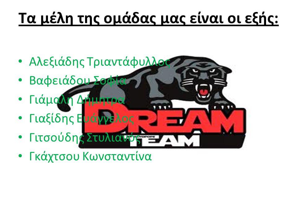 Τα μέλη της ομάδας μας είναι οι εξής: