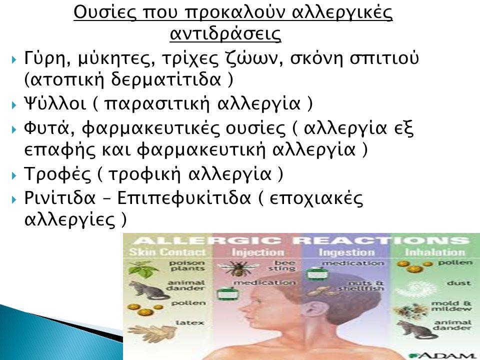 Ουσίες που προκαλούν αλλεργικές αντιδράσεις