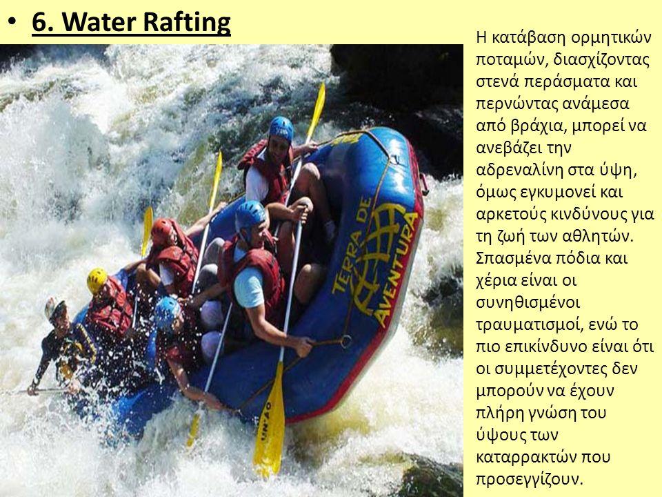 6. Water Rafting