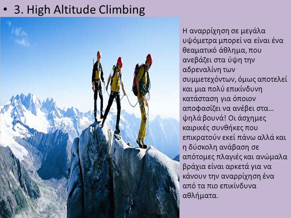 3. High Altitude Climbing