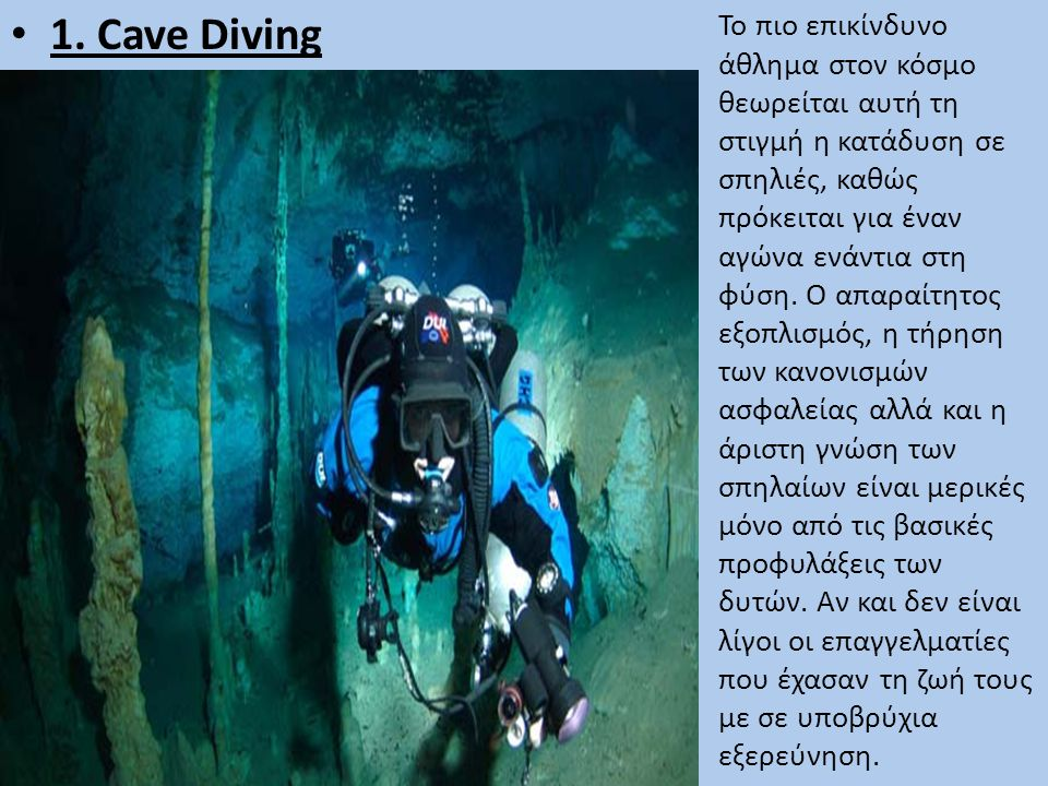 1. Cave Diving