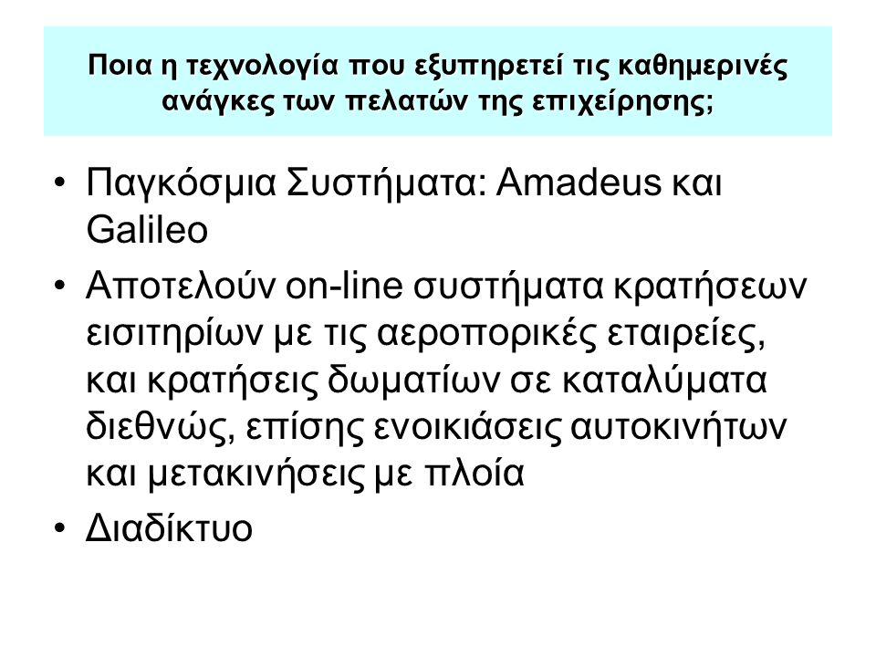 Παγκόσμια Συστήματα: Amadeus και Galileo
