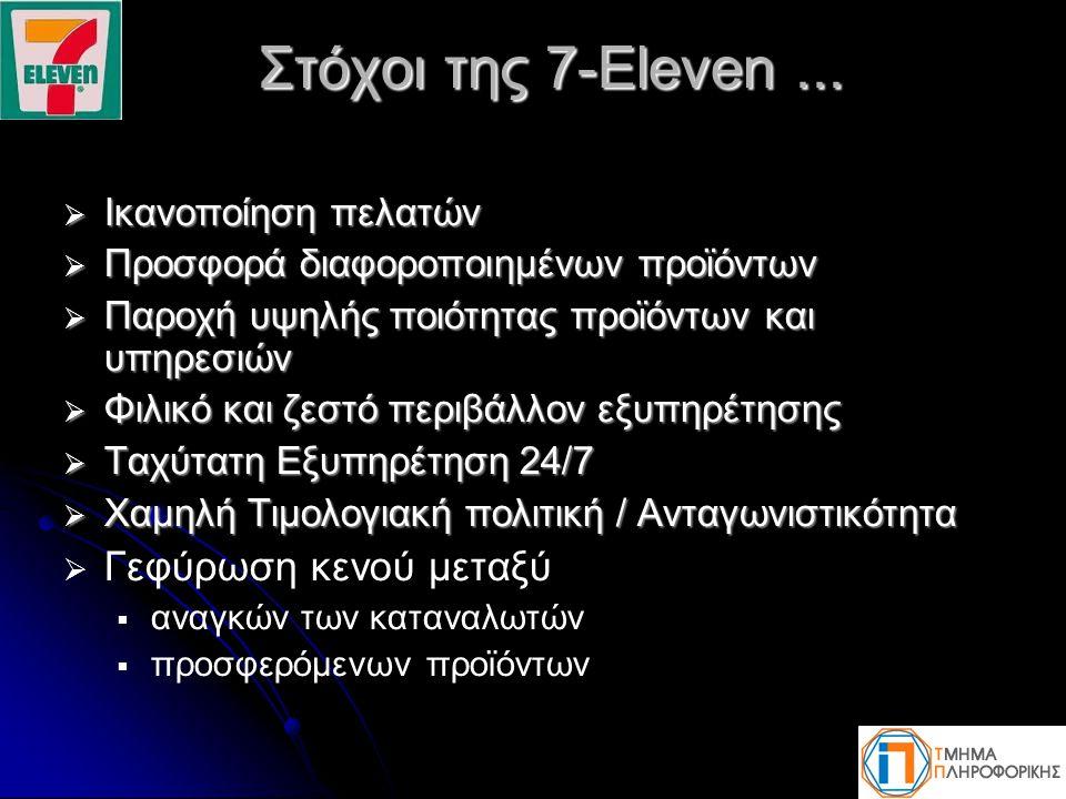 Στόχοι της 7-Eleven ... Γεφύρωση κενού μεταξύ Ικανοποίηση πελατών