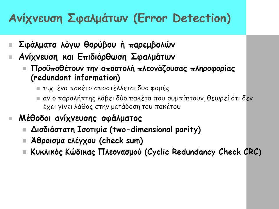 Ανίχνευση Σφαλμάτων (Error Detection)