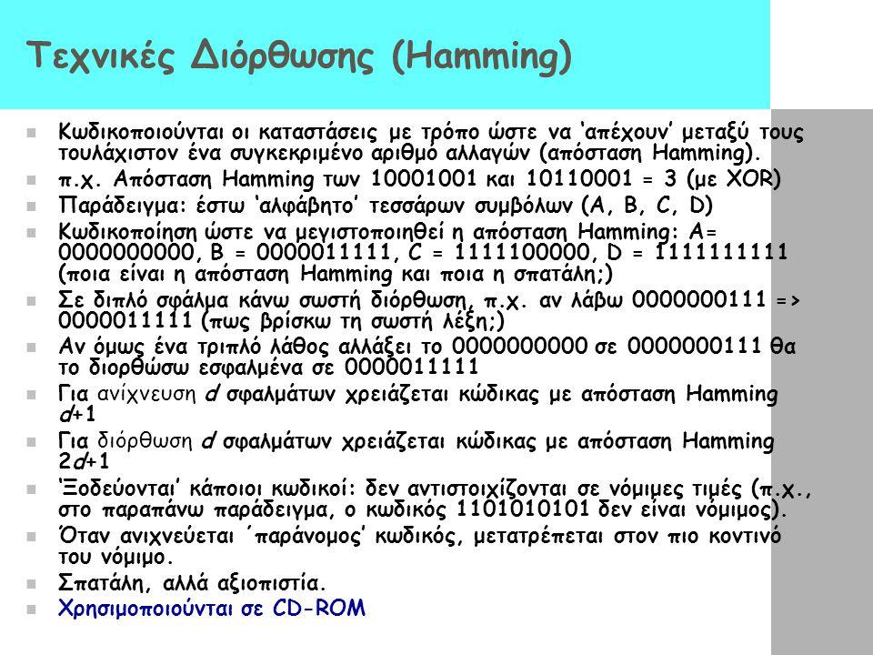 Τεχνικές Διόρθωσης (Hamming)