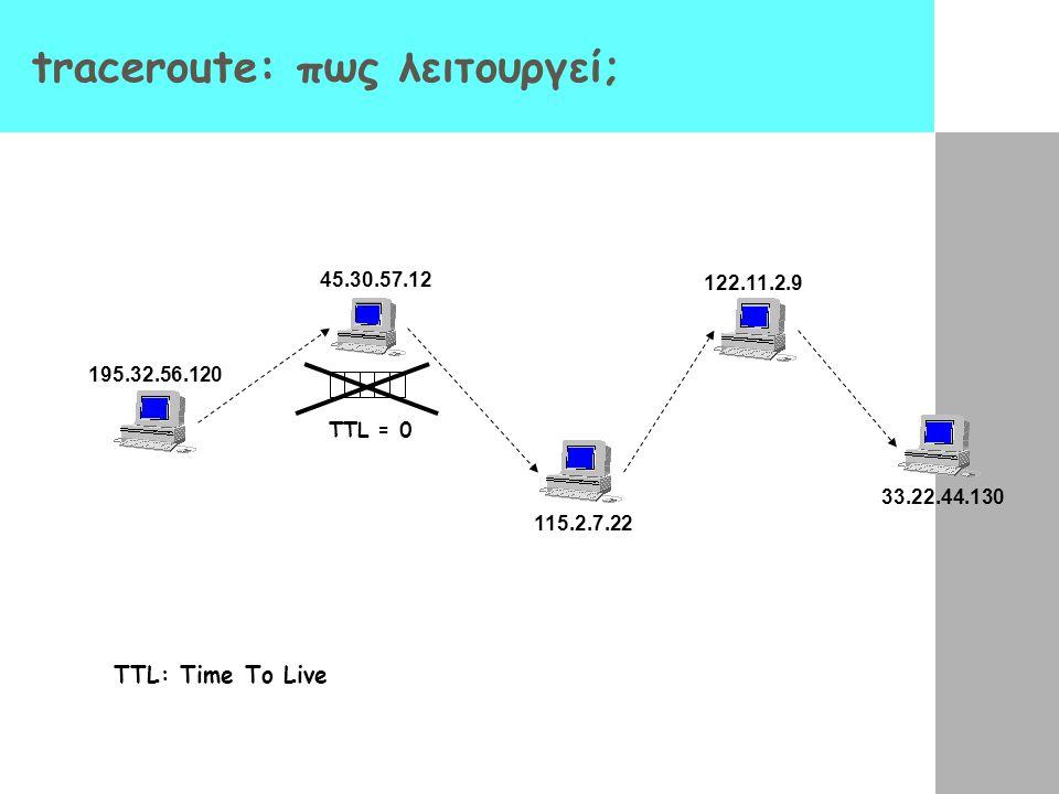 traceroute: πως λειτουργεί;