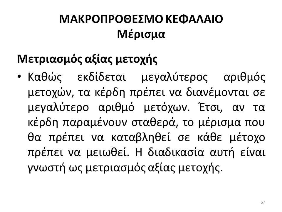 ΜΑΚΡΟΠΡΟΘΕΣΜΟ ΚΕΦΑΛΑΙΟ Μέρισμα