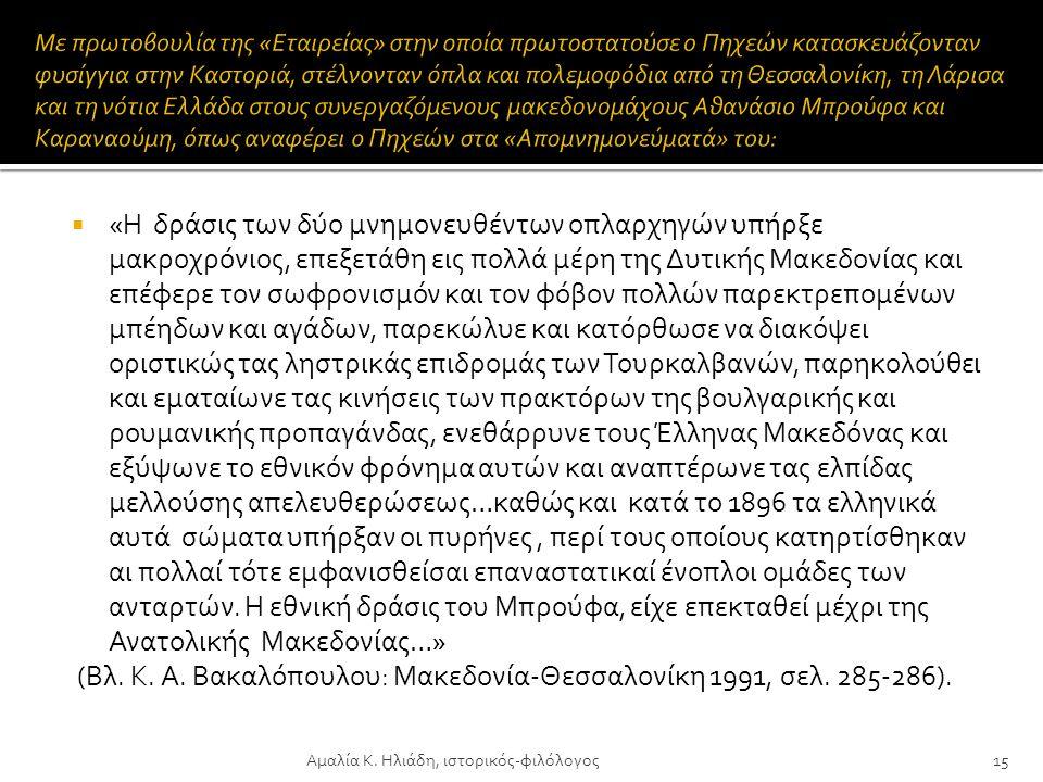 (Βλ. Κ. Α. Βακαλόπουλου: Μακεδονία-Θεσσαλονίκη 1991, σελ. 285-286).
